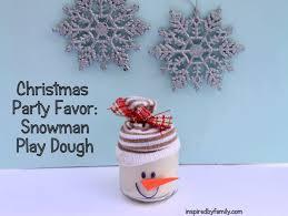 christmas table favors to make christmas party favor snowman play dough baby food jar craft