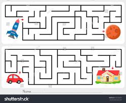 Home Design Game Help Maze Game Help Rocket Find Way Stock Vector 622503533 Shutterstock