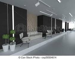 bureau vide nouveau concept bureau vide à côté de panoramique mur