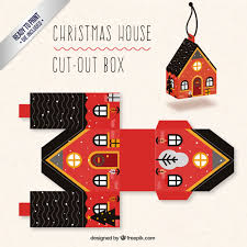 Christmas Home Design Games Christmas House Box In Red And Black Colors Vector Free Download