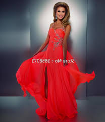 neon coral prom dress naf dresses