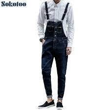 trendy jumpsuits sokotoo s slim stretch denim bib overalls trendy pocket