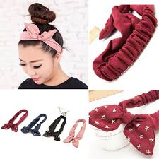 korean headband new fashion korean style suede dot girl women turban twist