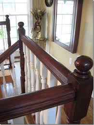 How To Sand Banister Spindles Staining An Oak Banister Southern Hospitality
