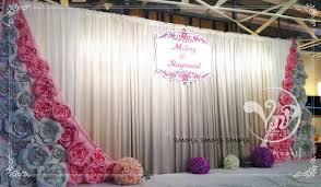 wedding backdrop hong kong 3pcs 80cm custom made wedding paper flower foam backdrop