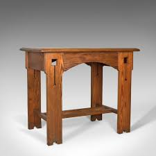 arts and crafts table for antique console table english arts crafts victorian pine side