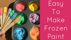 easy to make frozen paint for toddlers and preschool youtube