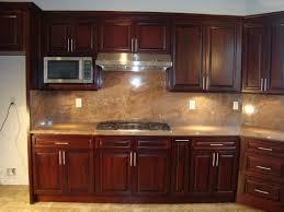 Kitchen Color Ideas With Dark Cabinets Kitchen Backsplash Cherry Cabinets Home Designs Kaajmaaja