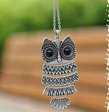 big owl necklace images Sterling silver owl necklace fresh women s necklaces jewelry 39 s jpg