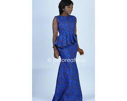 robe africaine mariage maxi imprimé africain bleu robe de bal robe africaine