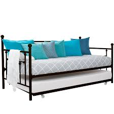 Metal Daybed With Trundle Dhp Manila Twin Daybed And Trundle Multiple Colors Ebay