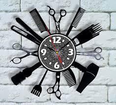 Hair Salon Interiors Best Accessories Salon Decor Vinyl Wall Clock Stylist Gifts Barber Gifts Hair