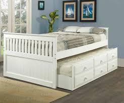 white full size trundle captains beds kids bedroom furniture