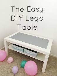 the easiest diy lego table all you need ikea coffee table lego
