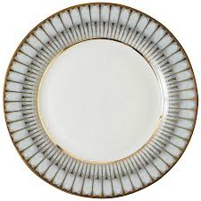 Gray And Gold Phillippe Deshoulieres Arcades Gray And Gold Dessert Plate