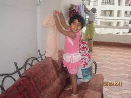advithaarvind advitha cleaning the house