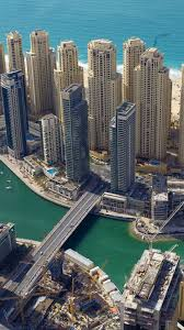 hd background dubai marina yacht club uae skyscrapers bridge