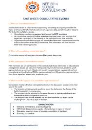 Event Fact Sheet Template 2014 Global Consultation Materials And Resources Inee Inter