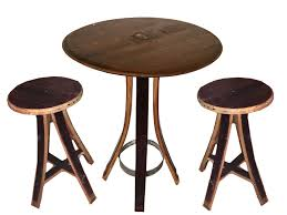Outdoor Table And Chair Wine Barrel Table And Chair Set U2013 Delta 13