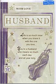 husband birthday card u0027 with love husband life is so much nicer
