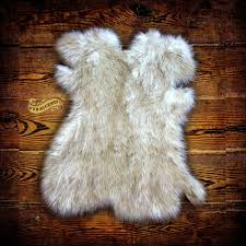 designer faux fur pelt rug plush shag luxury fur arctic fox