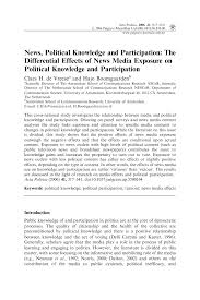 news political knowledge and participation the differential