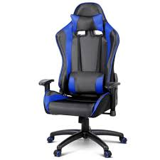 gaming chair for games racing office computer pu leather reclining