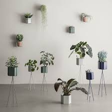 ferm living wall plant holder and planter black