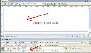 tutorial membuat web html sederhana membuat web sederhana dengan macromedia dreamweaver tutorial html
