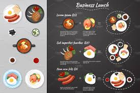 food vector business lunch menu food vector illustrations creative market