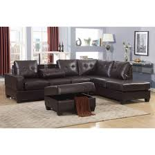 Sectional Sofa Sets Emily 3 Faux Leather Reversal Sectional Sofa Set With