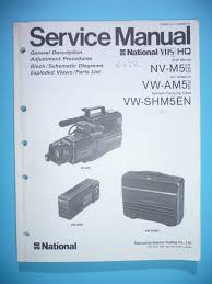 service manual manual for panasonic nv m5 vw am5 original