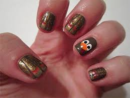 how to paint a turkey on fingernail nail designs ideas 2013
