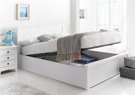 Single Storage Beds Bedding New England Soft White Wooden Ottoman Storage Bed The