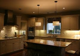 concrete countertops pendant lighting over kitchen island flooring