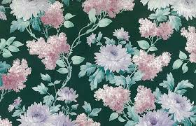 green floral vintage wallpaper pink white purple lilacs textured