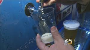 self serve beer taps debut at the wells fargo center cbs philly