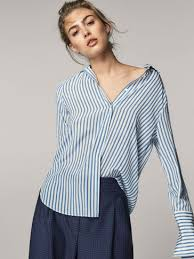 Blouse With Big Bow Women U0027s Shirts U0026 Blouses Massimo Dutti Autumn Winter Collection