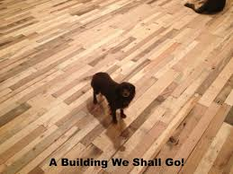 Laminate Floor Glue A Building We Shall Go The Art Of Pallet Wood Flooring