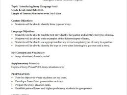 33 lesson plan template examples sample middle lesson plan