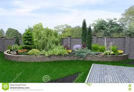 front yard horticultural background 3d render stock illustration