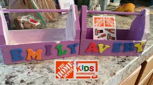 home depot kids workshop toolbox jan 2017 youtube