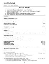 Biologist Resume Sample by Biology Resume Examples Ecologist Biology Ecology Essay Rubric