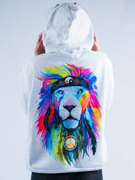 hippie lion unisex hoodie u2013 electro threads