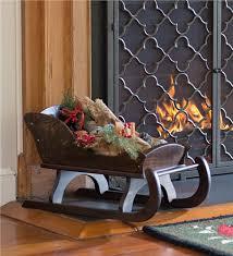 wooden sleigh decoration indoor decorations
