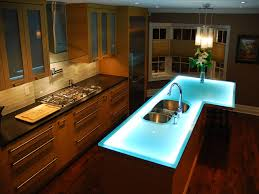 Kitchen Island Contemporary - alluring led kitchen island lighting glass island contemporary