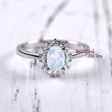 unique engagement rings for women unique engagement ring womens promise rings white lab created opal