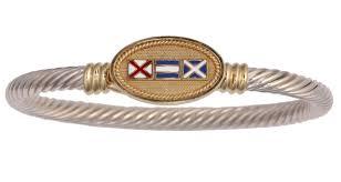 Nautical Code Flags Nautical Signal Flags Custom Initials Twisted Bracelet