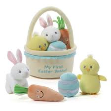 baby easter basket baby gund my easter basket playset stuffed plush