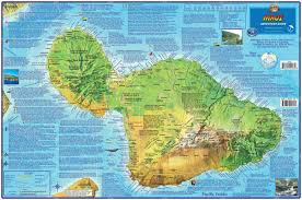 Phl Airport Map Maui Hawaii Adventure Guide Franko Maps Waterproof Map Franko